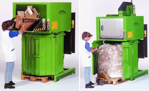 Bergmann PS8100 Rotary Bag Compactor -loading-unloading
